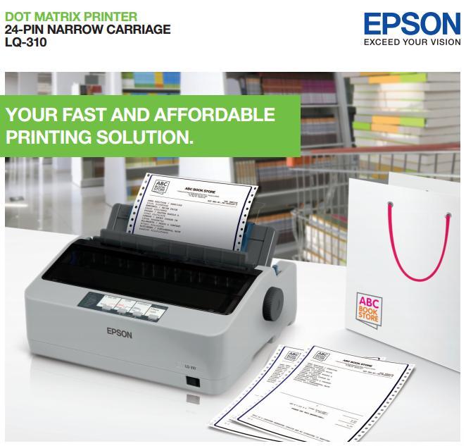 Máy in kim Epson LQ-310 dùng để in hóa đơn nhiều liên